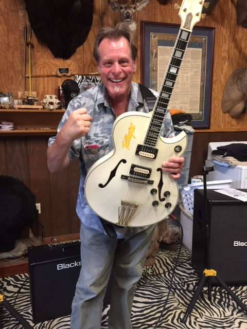 Ted with the Great White Buffalo guitar